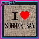 I LOVE HEART SUMMER BAY JUTE LADIES GIFT SHOPPING BAG